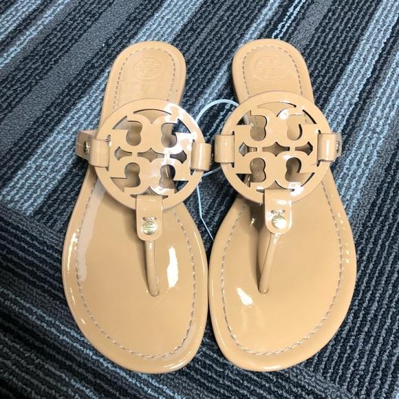 9bd7bb21aaf Tan Tory Burch Miller Sandals